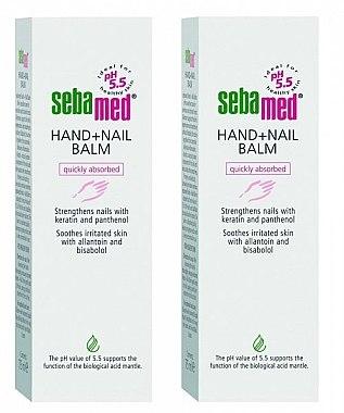 Handpflegeset - Sebamed Hand And Nail Balm (Hand- und Nagelbalsam 2x75ml) — Bild N1
