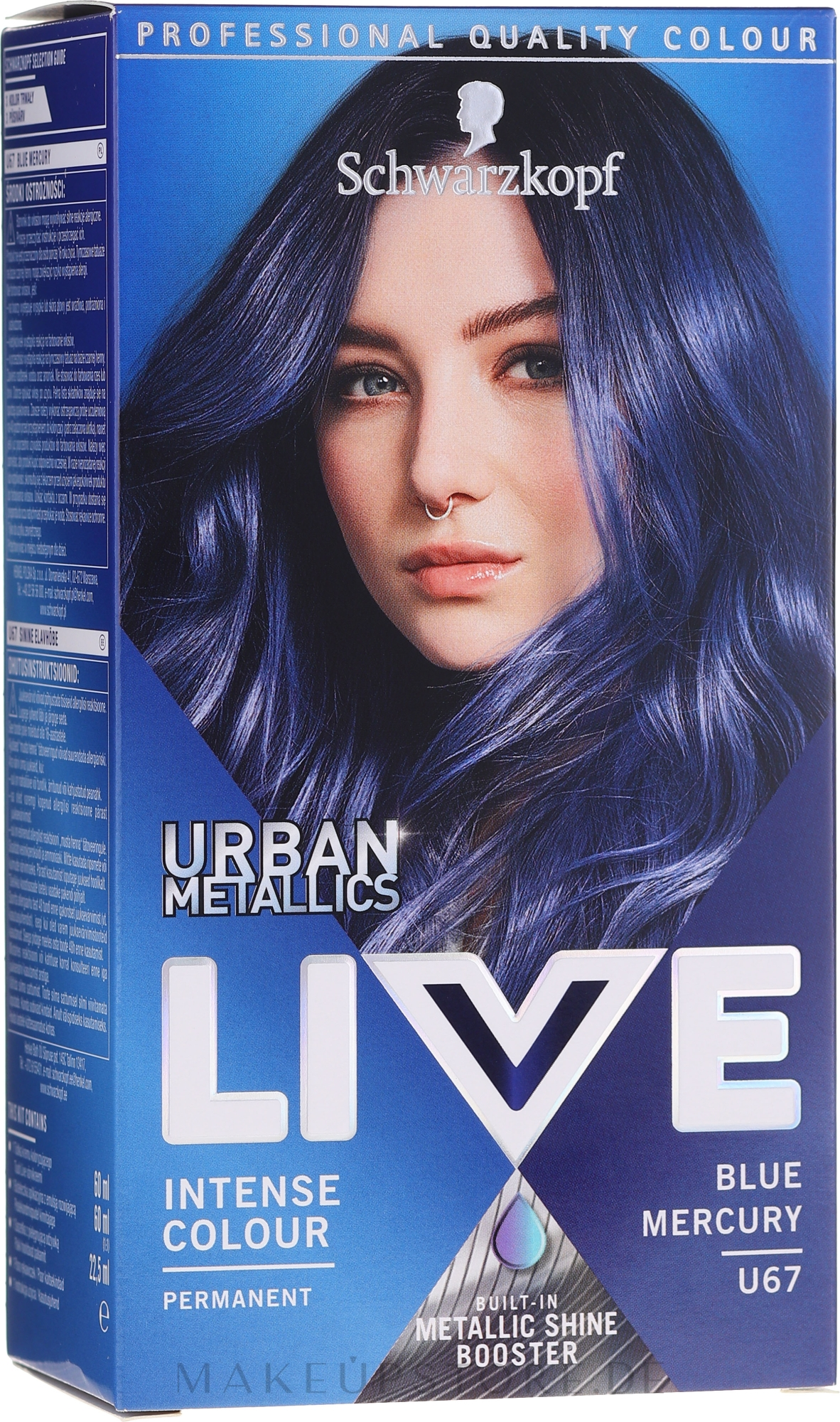 Haarfarbe - Schwarzkopf Live Urban Metallics Intense Colour — Bild U67 - Blue Mercury