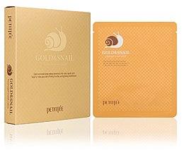 Düfte, Parfümerie und Kosmetik Feuchtigkeitsspendende Tuchmaske mit Gold und Schneckenschleim-Extrakt - Petitfee & Koelf Gold & Snail Hydrogel Mask Pack