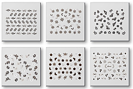 Düfte, Parfümerie und Kosmetik Set Dekorative Nagelsticker 6 St. 42935 - Top Choice Nail Decorations Stickers Set