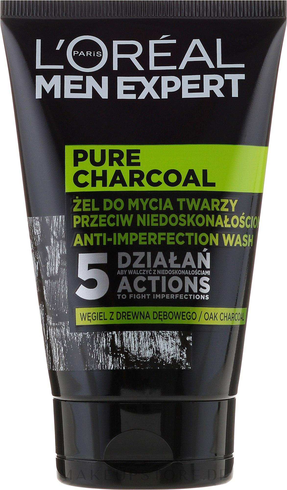 Gesichtswaschgel mit Aktivkohle für Männer - LOreal Paris