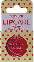 Düfte, Parfümerie und Kosmetik Kosmetische Lippenvaseline mit Rosenduft - Floslek Lip Care Cosmetic Lip Vaseline Rose