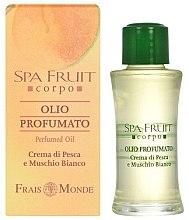 Düfte, Parfümerie und Kosmetik Frais Monde Spa Fruit Peach And White Musk Perfumed Oil - Mydła perfumowane