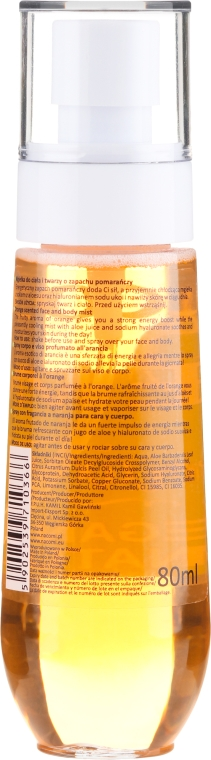 Gesichtsspray mit Orangenduft - Nacomi Face Mist Orange — Bild N2