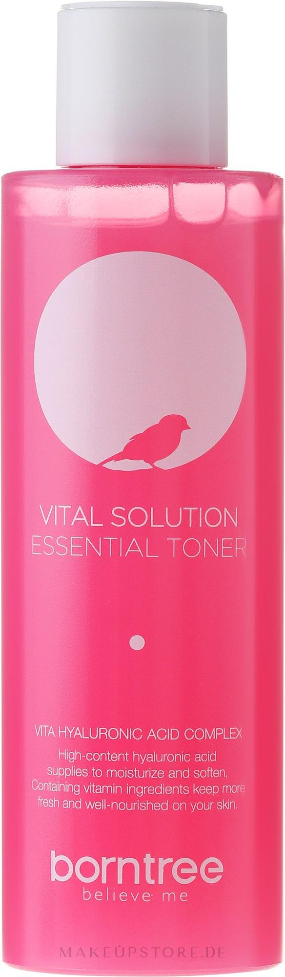 Gesichtstonikum mit Hyaluronsäure - Borntree Vital Solution Essential Toner — Bild 150 ml