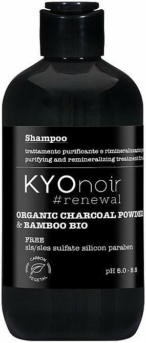 Erneuerndes Shampoo mit Bio Holzkohlepulver und Bambusextrakt - Kyo Noir Organic Charcoal Shampoo — Bild N1