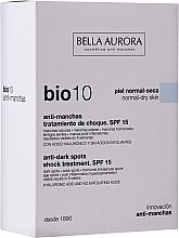 Düfte, Parfümerie und Kosmetik Gesichtsfluid gegen Pigmentflecken SPF 15 - Bella Auora Bio10 Anti Spots Serum