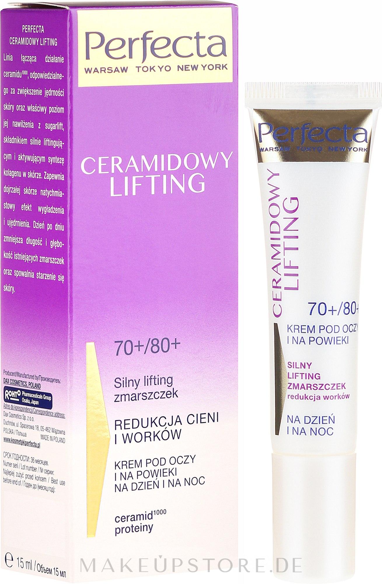 Augenkonturcreme - Perfecta Ceramid Lift 70+/80+ Eye Cream — Bild 15 ml