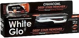 Düfte, Parfümerie und Kosmetik Mundpflegeset - White Glo Charcoal Deep Stain Remover Toothpaste (Zahnpasta 100ml + Zahnbürste)