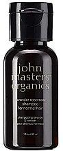Düfte, Parfümerie und Kosmetik Shampoo für normales Haar mit Lavendel und Rosmarin - John Masters Organics Lavender Rosemary Shampoo (Mini)