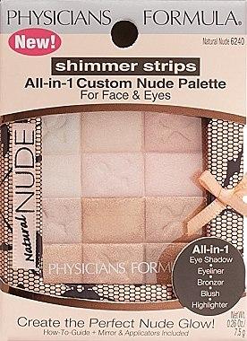 Make-up Set - Physicians Formula Shimmer Strips All-In-1 Custom Nude Palette For Face & Eyes — Bild N4
