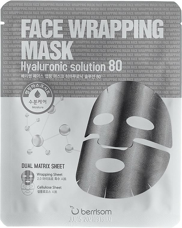 Tuchmaske für das Gesicht mit Hyaluronsäure - Berrisom Face Wrapping Mask Hyaluronic Solution — Bild N1