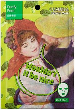 Reinigende Tuchmaske mit Brokkoli-Extrakt - Oerbeua Purify Pore Clearing Mask — Bild N1