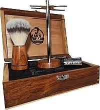 Rasierset für Männer - Man's Beard Barber Wood Set (Rasierpinsel 1St. + Rasierer 1St. + Ständer 1St.) — Bild N3