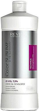 Creme-Peroxid 7,5% - Revlon Professional Revlonissimo Color Sublime Cream Oil Developer 25Vol 7,5% — Bild N1
