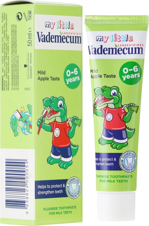 Kinderzahnpasta 0-6 Jahre mit mildem Apfelgeschmack - Vademecum Junior Apple Toothpaste — Bild N1
