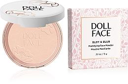 Düfte, Parfümerie und Kosmetik Mattierender Gesichtspuder - Doll Face Blot & Blur Mattifying Powder