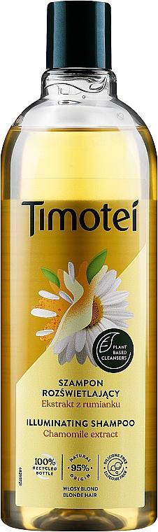 Shampoo für blondes, gesträhntes Haar mit Bio Kamillenextrakt - Timotei Golden Highlights Shampoo