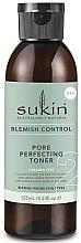 Düfte, Parfümerie und Kosmetik Gesichtstonikum zur Verengung der Poren mit Eukalyptus- und Teebaumöl - Sukin Blemish Control Pore Perfecting Toner