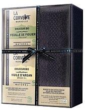 Düfte, Parfümerie und Kosmetik Seifenset - La Corvette Douceur Bio Gift Box (Seife 2x100g + Handtuch 1 St.)