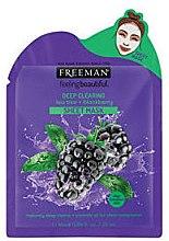 Düfte, Parfümerie und Kosmetik Tiefenreinigende Tuchmaske für fettige Haut mit Brombeere und Teebaumwasser - Freeman Sheet Mask