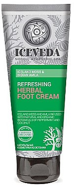 Fußcreme - Natura Siberica Iceveda Iceland Moss&Indian Amla Reftrsh Herbal Foot Cream — Bild N1