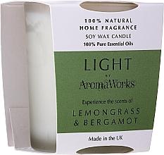 Düfte, Parfümerie und Kosmetik Soja-Duftkerze im Glas Zitronengras und Bergamotte - AromaWorks Light Range Lemongrass & Bergamot Candle