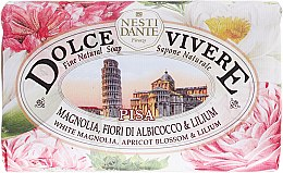 Düfte, Parfümerie und Kosmetik Naturseife Pisa - Nesti Dante Natural Soap White Magnolia, Apricot Blossom & Lilium Dolce Vivere Collection