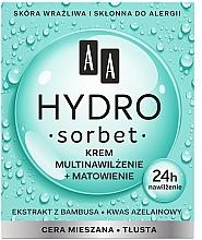 Düfte, Parfümerie und Kosmetik Mattierende und feuchtigkeitsspendende Gesichtscreme - AA Hydro Sorbet Moisturising & Mattifying Cream