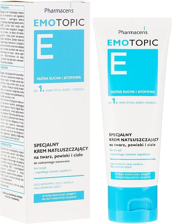 Beruhigende Körpercreme bei Juckreiz und mikroskopischen Rissen - Pharmaceris E Emotopic Special Cream