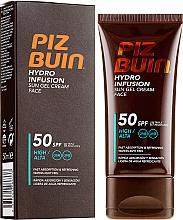 Düfte, Parfümerie und Kosmetik Sonnenschutzendes und wasserfestes Cremegel für das Gesicht SPF 50 - Piz Buin Hydro Infusion SPF 50