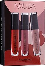 Düfte, Parfümerie und Kosmetik Lippenpflegeset (Lippenstift 3x6ml) - NoUBA Millebaci Travel Set №3