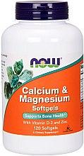 Düfte, Parfümerie und Kosmetik Nahrungsergänzungsmittel Kalzium, Magnesium, Vitamin D3 und Zink für gesunde Knochen - Now Foods Calcium & Magnesium Softgels