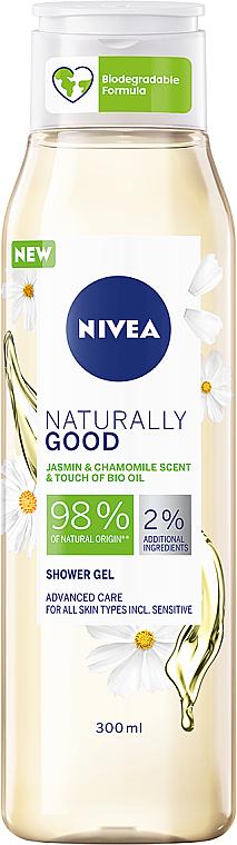 Duschgel mit Jasmin- und Kamillenduft - Nivea Naturally Good Jasmin & Chamomile Shower Gel — Bild N1
