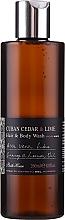 Bath House Cuban Cedar & Lime - Duftset (Eau de Cologne 100ml + Duschgel 260ml + Bartöl 30ml) — Bild N5