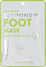 Düfte, Parfümerie und Kosmetik Entspannende und feuchtigkeitsspendende Fußmaske in Socken mit Sheabutter und Aloe Vera - Beauugreen Beauty153 Diamond Foot Mask