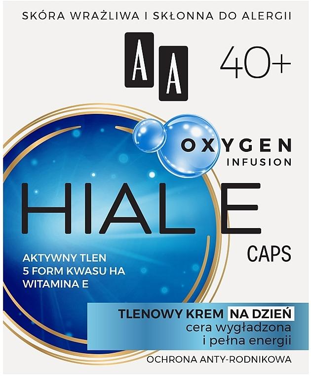 Glättende und feuchtigkeitsspendende Anti-Falten Sauerstoff-Gesichtscreme für den Tag mit Vitamin E 40+ - AA Oxygen Infusion Hial E Caps Day Cream — Bild N1