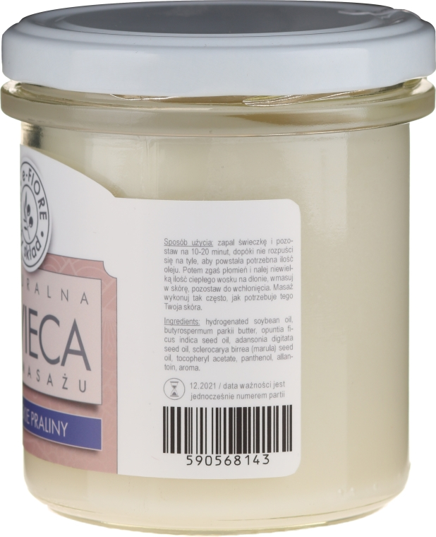 Massagekerze Paris Praline - E-Fiore Massage Soy Candle — Bild N2
