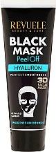 Schwarze Peel-Off Gesichtsmaske mit Hyaluronsäure - Revuele Black Mask Peel Off Hyaluron — Bild N2