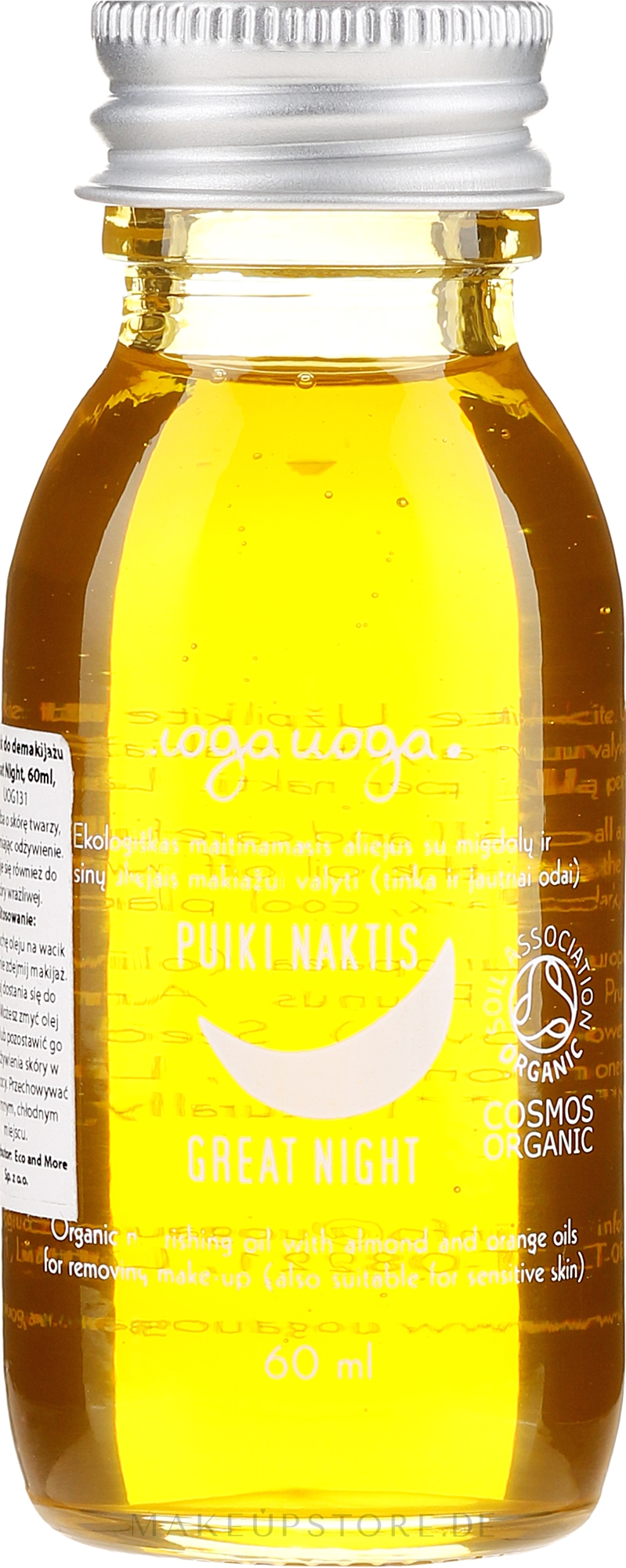 Pflegendes Öl zum Abschminken mit Mandeln und Orangen - Uoga Uoga Natural Nourishing Oil — Bild 60 ml