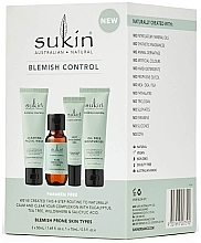 Düfte, Parfümerie und Kosmetik Gesichtspflegeset - Sukin Blemish Control Kit (Gesichtsgel 50ml + Gesichtstonikum 50ml + Gesichtsgel 15ml + Gesichtsgel 50ml)