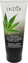 Düfte, Parfümerie und Kosmetik Pflegende und feuchtigkeitsspendende Duschcreme mit Hanföl - India Hemp Shower Cream
