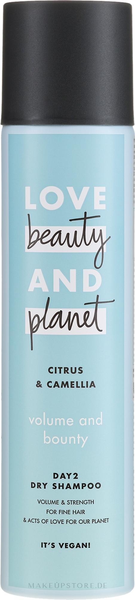 Trockenshampoo für feines Haar mit Zitrusfrüchten und Kamelien - Love Beauty And Planet Citrus & Camellia Dry Shampoo — Bild 245 ml