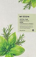 Düfte, Parfümerie und Kosmetik Feuchtigkeitsspendende Gesichtsmaske mit Kräutern - Mizon Joyful Time Essence Mask Herb