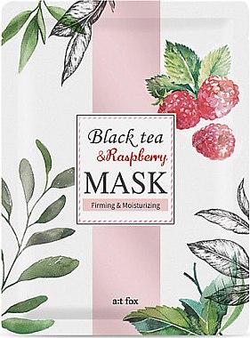 Feuchtigkeitsspendende und straffende Tuchmaske - A:t fox Black Tea Raspberry Mask — Bild N1