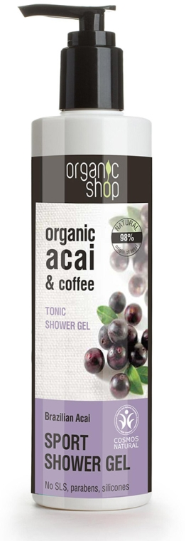 Belebendes Duschgel mit Bio Acai-Beeren - Organic Shop Organic Coffee and Acai Sport Shower Gel — Bild N1