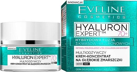 Anti-Falten Cremekonzentrat für die Tages- und Nachtpflege 70+ - Eveline Cosmetics Bio Hyaluron Expert Cream 70+ — Bild N1