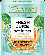 Düfte, Parfümerie und Kosmetik Feuchtigkeitsspendende Gesichtscreme-Booster für trockene und empfindliche Haut - Bielenda Fresh Juice Booster