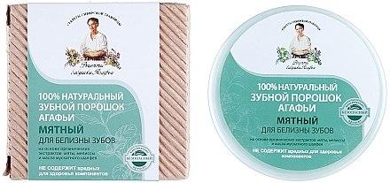 100% Natürliches aufhellendes Zahnpulver mit Minzextrakt - Rezepte der Oma Agafja — Bild N1