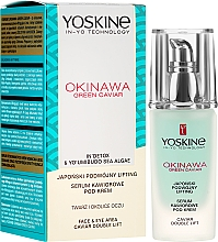 Düfte, Parfümerie und Kosmetik Lifting Serum für Gesicht und Augenbereich mit grünem Kaviar - Yoskine Okinawa Green Caviar Lifting Serum